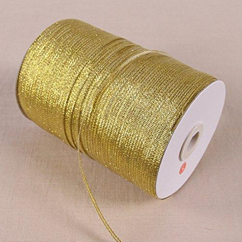 Metallic Organzaband gold viele Größen Weihnachten Wrap Presents Crafts Schmuck Fashion Charms Dekoration 3 Kaufen & Get 1 Gratis, gold, 3mm - 870 Yards