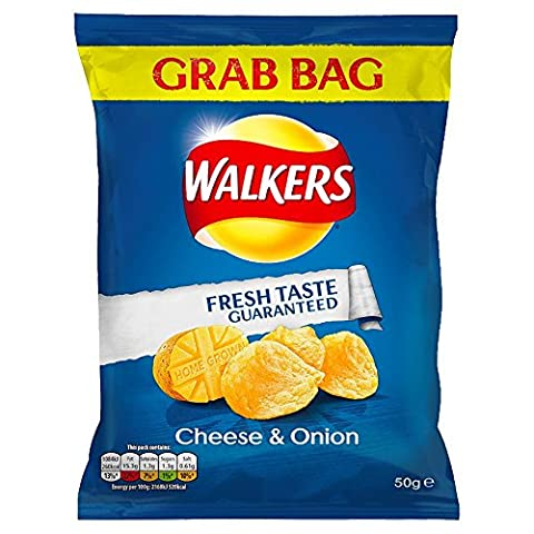 ( 32 Pack ) Walkers Cheese & Onion - 50g