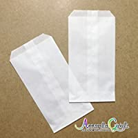 100 pezzi SACCHETTI carta bianca, 9x16 cm, confettata, bianco, bustine carta, sacchetti carta confetti, confettata, bianco 9x16cm