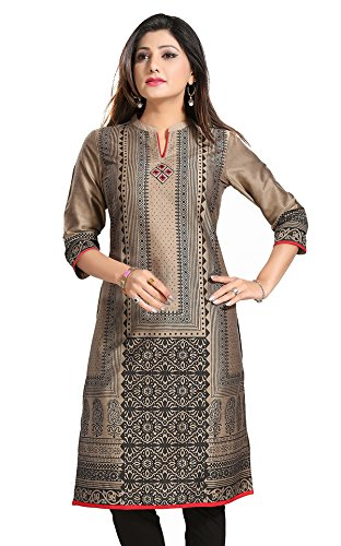 Meher Impex Cotton Silk Long Printed Women's Kurti