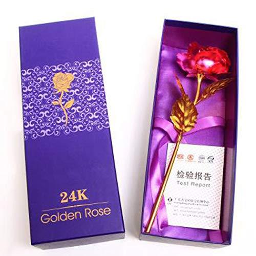 fertigt Forever Rose Konservierte Rose Künstliche Blume mit Geschenkbox Einzigartige Valentinstag Jahrestag Geburtstag Hochzeitstag Geschenke für Frau Freundin (rosa) ()