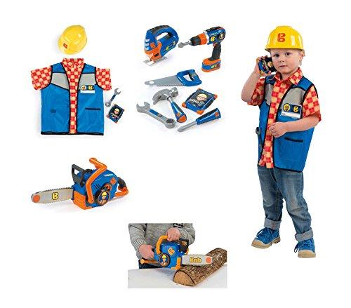 Preisvergleich Produktbild Ideal Bob der Baumeister Werkzeugset Elektrische Kettensäge Handwerker Outfit mit Helm