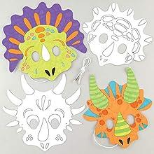 Baker Ross Masken aus Papier zu malen - Kreativität für Kinder Kunsthandwerksprojekte (10er Pack), sortiert