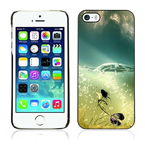Graphic4You Mermaid Underwater Design Harte Hülle Case Tasche Schutzhülle für Apple iPhone 5 und 5S Design #20
