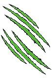 Aufkleber Krallen grün 300 x 200 mm ~~~~~ schneller Versand innerhalb 24 Stunden ~~~~~