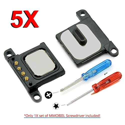 MMOBIEL 5er Pack Hörmuschel Hörer Ohrmuschel für iPhone 6S Lautsprecher Earphone Earpiece inkl 2 x Schraubenzieher für einfachere Installation