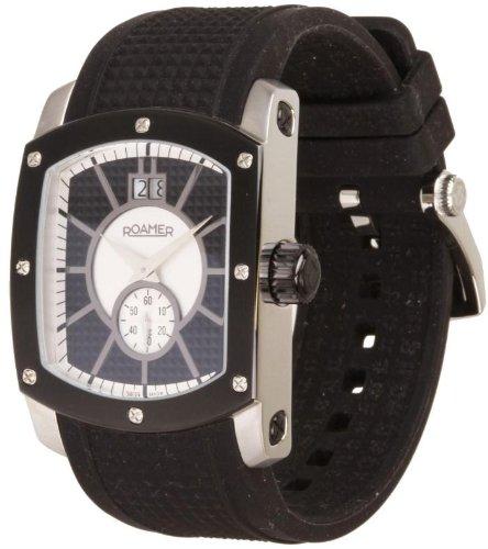 Roamer - 714849415507 - Swiss Made - Montre Mixte - Quartz Analogique - Cadran Argent - Bracelet Caoutchouc Noir
