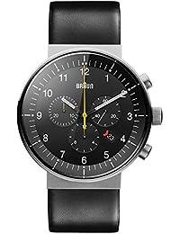 Braun Herren-Armbanduhr Analog Quarz Leder BN0095SLG