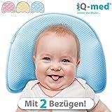 Babykissen Premium von iQ-med | mit 2 Bezügen | gegen Plattkopf und Verformung (Rosa)