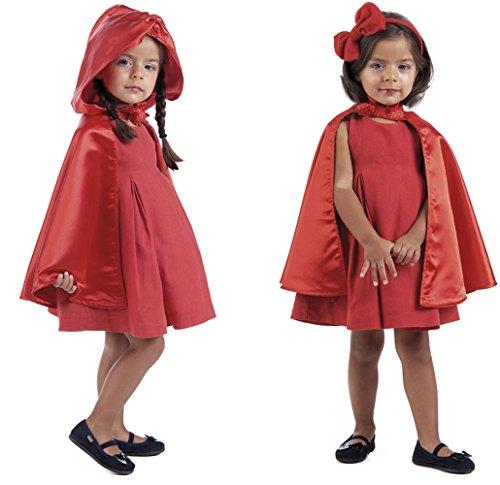 Märchenumhang Kinder Rotkäppchen Schneewittchen Kostüm mit Kapuze (Kinder Kostüme Schneewittchen)