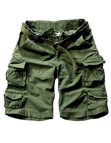 Menschwear Herren Vintage Cargo Shorts Bermuda Kurze Hose Sommer Kurze Hose  militärin Grün 6098ce88de