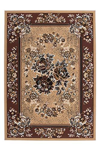 Lalee 347057047 alfombra clásica/modelo: flores/beige, 100% Polipropileno, beige, 120 x 170 cm