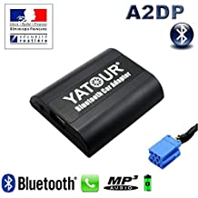 Yatour–Kit manos libres Bluetooth Telefonía & Streaming Audio para Citroën RD3–Citroën C3, C4y C5, C8, XSARA