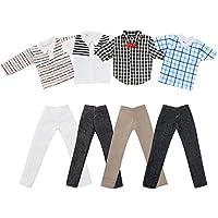 Asiv 4 Sets Plaid Kleidung Jacke Hosen Outfit Für Ken Fashionista Puppen, für Weihnachten und Geburtstag Geschenk