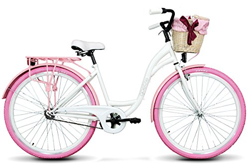 Goetze Colours 28 Zoll Fahrrad Citybike Stadtrad Damenfahrrad Retro Weiß und Rosa