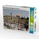 Altstadt von Jerusalem mit Klagemauer und Felsendom 2000 Teile Puzzle quer (CALVENDO Glaube)