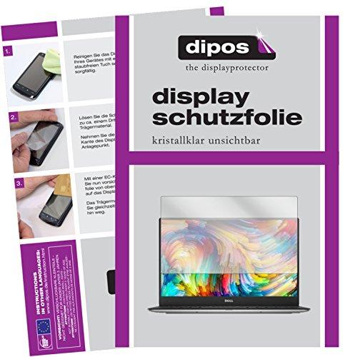 dipos I 2X Schutzfolie klar passend für Dell XPS 13 (9360) Folie Displayschutzfolie