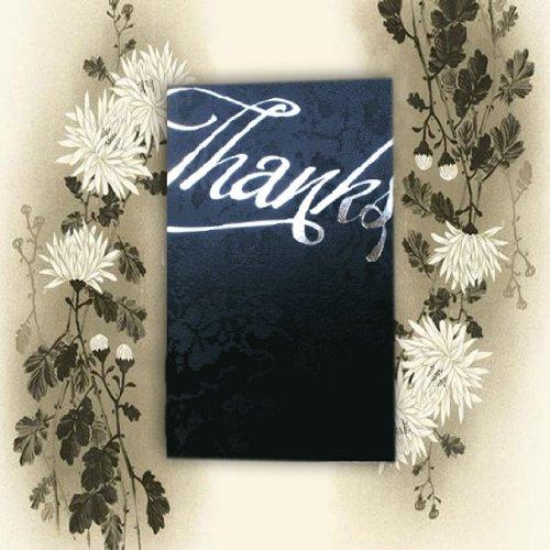 Arazzo nero vintage pizzo floreale 'grazie' Thank You wedding biglietti con buste coordinate e inserti per voi a stampa x 10(THK6)