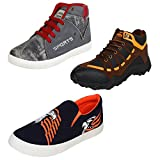 #6: Super Men Canvas Combo Pack of 3 Sneakers Casual Shoes