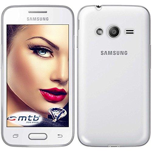 hutz-Hülle Clear & Slim für Samsung Galaxy Trend 2 (SM-G313, 4.0'') | transparent | flexibel | TPU Silikon Case Cover Tasche ()