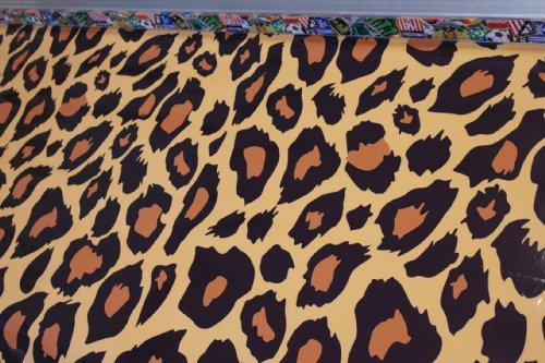 Stickerbomb Autofolie Leopard 2 50 x 152 cm blasenfrei mit Anleitung (Leopard-folie)
