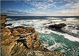 Poster 40 x 30 cm: Atlanktik Küste Schottland von Martina