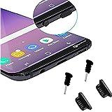 Huawei Honor 9-4x Anti Dust Protector Antipolvo/Micro USB Conector/entrada de auriculares-Polvo Tapón Negro