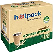 Hotpack Disposable Wooden Coffee Stirrer 14CM- 1000Pcs