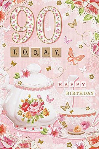 90hoy hembra Tarjeta de cumpleaños