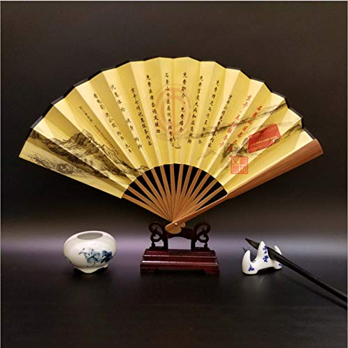 Sakura Language Hall-M Fächer Öl Bambus Papier Fan Bambus Falten Alten Wind Folding Fan Maßgeschneiderte White Paper Fan Geschenk Fan