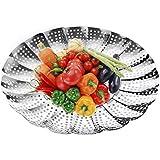 """Premium vegetal Steamer Cesta, 5.5""""a 9,3,"""" Insertar para Instant Pot cacerola, sartenes, ollas y más + seguridad herramienta–100% acero inoxidable–Instant Pot olla a presión y accesorios"""