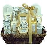 Gloss! Premium Gold - Cesta de baño regalo, flores y almizcle