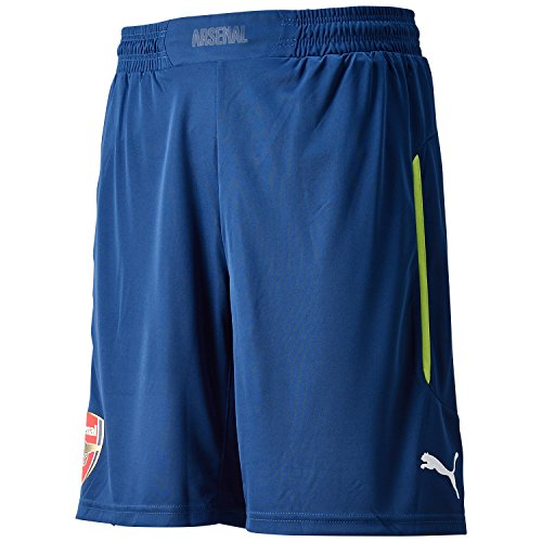 Puma Arsenal 2014/2015 Shorts Partite di Coppa Uomo, Blu/Giallo, M