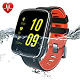 Smart Watch Android, Willful Fitness Tracer Waterproof with Heart Rate Monitor for iPhone Android iOS Smartphone for Women Men Swimming with Touch Screen ( Heart Rate Monitor, Activity Tracker (Pedometer, Calories, Distance), Sleep Monitor, Call & SMS Notification, Alarm, Stopwatch)