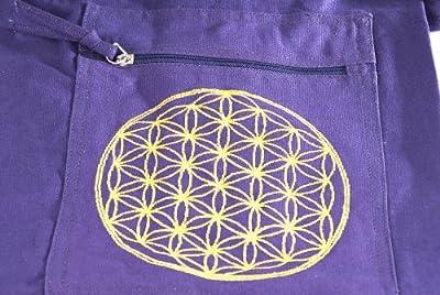 Berk YO-15-LI Meditations-Zubehör - Yoga Tasche mit Blume von Lebens, lila
