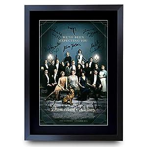 HWC Trading Downton Abbey Poster mit Autogramm, gerahmt, A3