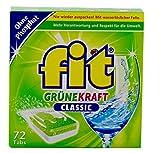 Fit Grüne Kraft Classic Tabs 72 XL Geschirrspültabs