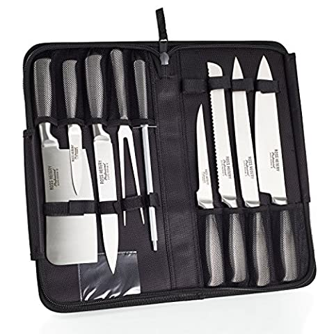 Lot de couteaux de chef Eclipse, de Ross Henery Professional, 9 pièces, en acier inoxydable (Carbonio Acciaio Forgiato Chefs Knife)