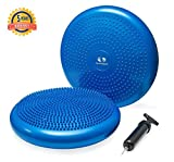 #3: Balance Wiggle Seat Classroom - Seating Disc and Air Cushion for Better Posture and Stability - Wobble Chair Blue - Aerobic Step Bench Exercise - Stability Balance Disc 13