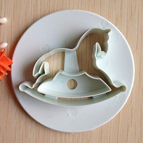 Karen Baking3PCS legno Cavallo Forma stampo da plum cake Zucchero Arts Set fondente Strumenti / Cookie Cutters