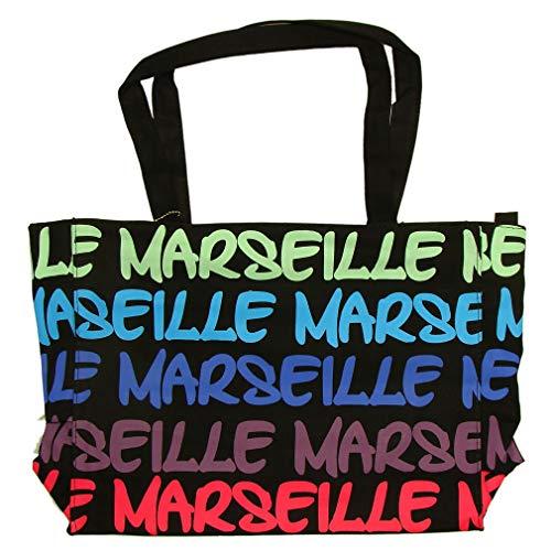 Sac Shopping Marseille Robin Ruth 'Néon' - Noir