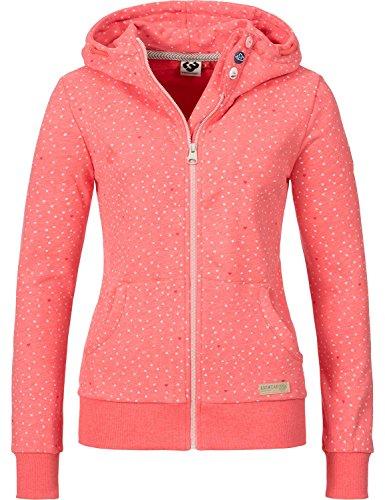 Ragwear Damen Jacke Sweatjacke Übergangsjacke Chelsea Zip (vegan hergestellt) Coral Gr. M