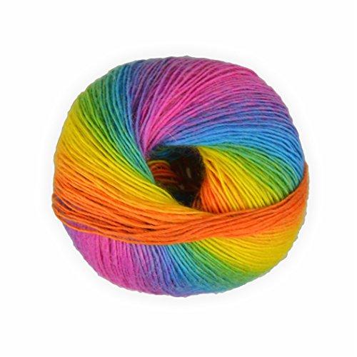 Creleo 792358 Sockenwolle mixed colors Regenbogen -2- 50g - 200 Meter Regenbogen 2 -