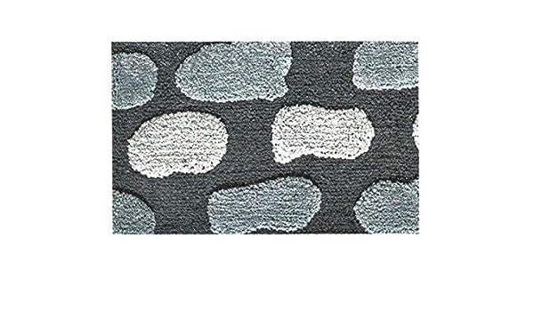 CapitanCasa Tappeto da Bagno con Sottofondo Antiscivolo Disegno Stone Colore Beige Par 3Pz Beige