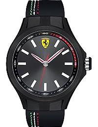 06abacc62e Orologio da uomo analogico al quarzo con cinturino in silicone nero, Scuderia  Ferrari 0830218