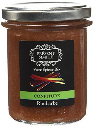 Présent Simple Confiture de Rhubarbe 220 g - Lot de 2