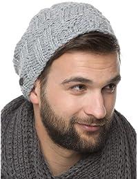 Patric - handmade Strick Beanie Mütze für Herren - Strickmütze mit Innen-Fleece