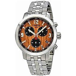 Tissot PRC 200baloncesto Brown Dial Mens Reloj cronógrafo t055.417.11.297.01
