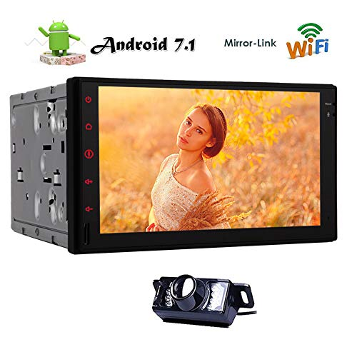 EINCAR Rear Camera + Android 7.1 Octa Core-Autoradio-Double 2 Din Stereo In Dash Head Unit 7-Zoll-Touchscreen Autoradio Unterstützung GPS Bluetooth WiFi 4G USB Mirrorlink SD OBD2 DVR FM/AM RDS (In Dash Stereo With Backup Camera)