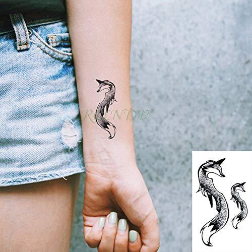 adgkitb 5 stücke Wasserdicht Temporäre Tätowierung Aufkleber Schlange Gefälschte Tatto Tatoo Kunst Hand Zurück Fuß Arm Für Mädchen Frauen Männer Hellgrau 10,5x6 cm